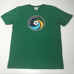 New York cosmos green soccer jersey Pele